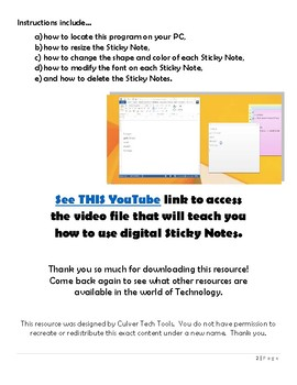 "Digital ""Sticky Notes"" Tutorial"