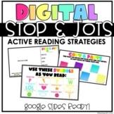 Digital Stop & Jots | Reading Strategies | Think Marks | R