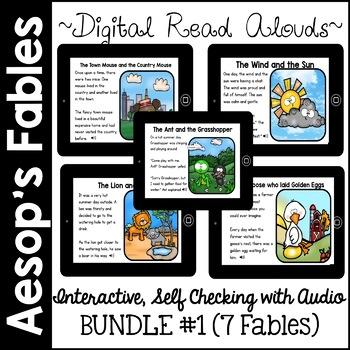 Digital Stories- Aesop's Fables BUNDLE ONE (Boom Cards)