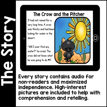 Digital Stories- Aesop's Fables BUNDLE TWO (Boom Cards)