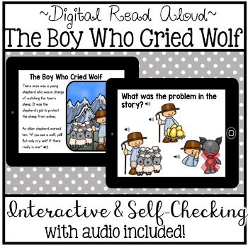 Digital Stories - Aesop's Fables The Boy Who Cried Wolf (Boom Cards)