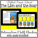 Digital Stories - Aesop's Fables The Lion and the Boar (Boom Cards)