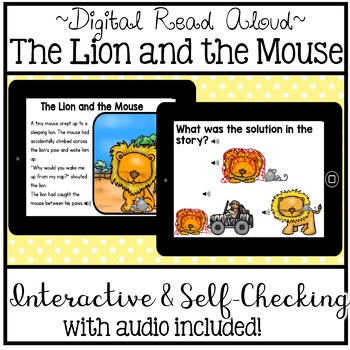 Digital Stories - Aesop's Fables The Lion and the Mouse (Boom Cards)
