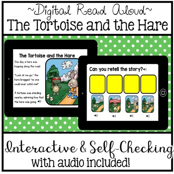 Digital Stories - Aesop's Fables The Tortoise and the Hare (Boom Cards)