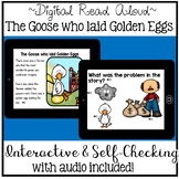 Digital Stories Aesop's Fables The Goose who laid the Golden Egg (Boom Cards)