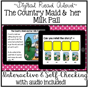 Digital Stories - The Country Maid and her Milk Pail (Boom Cards)