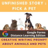 Digital Story Starter Creative Writing Prompt: Pick a Pet