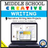 Middle School Creative Writing Activities-Distance Learning