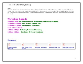 Digital Storytelling Professional Development Workshop