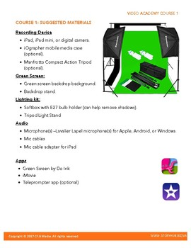 Video Academy Green Screen App and iPad - Teacher's Guide Preview