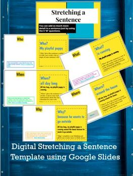 Digital Stretching a Sentence Template Using Google Slides