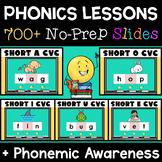 Digital Structured Phonics CVC Short A, E, I, O, U Words BUNDLE