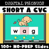 Digital Structured Phonics Short A CVC Words Reading & Spe