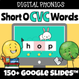 Digital Structured Phonics Short O CVC Words Reading & Spe