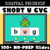 Digital Structured Phonics Short U CVC Words Reading & Spe