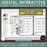 Digital Student Agenda / Planner with Movable Stickers