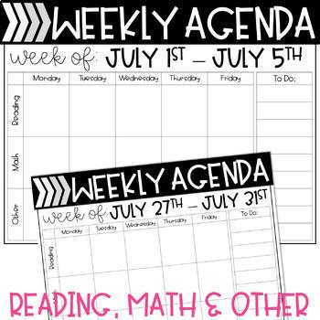 Digital Student Agendas or Digital Planners Designed for Google Classroom