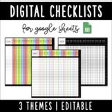 Digital Student Checklists   Google Sheets