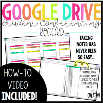 Digital Student Conference Forms for Google Drive