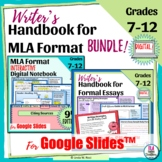 Digital Student Guide to MLA Format & Writer's Handbook Bundle