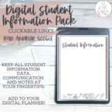 Digital Student Information Pack | Use with ipad, tablet,