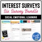 Digital Student Interest Surveys 6 SET Bundle   Distance L