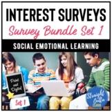 Digital Student Interest Surveys Bundle SET 1   Distance L