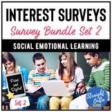 Digital Student Interest Surveys Bundle SET 2   Distance L