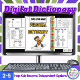 Digital Student Personal Dictionary - An Online Reference