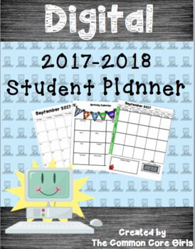 Digital Student Planner: No Prep, Engaging, Ready to Share and Use