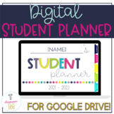 Digital Student Planner for Google Drive | Distance Learning