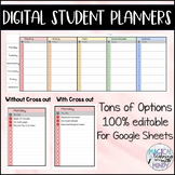 Digital Student Planners - Completely Editable!