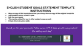 Digital Student Yearly Goals Slide Deck TEMPLATE