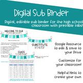 Digital Sub Binder for High School
