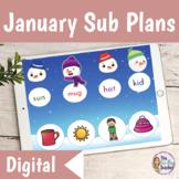 Emergency Digital Sub Plans 1st Grade January