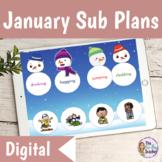 Emergency Sub Plans 2nd Grade January Digital