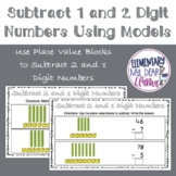 Digital Subtract 2 Digit and 1 Digit Numbers Using Models