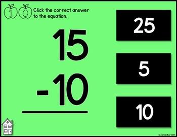 Digital Subtraction Fact Practice 11 - 20