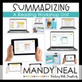 Digital Summarizing Reading Workshop Unit | Distance Learning