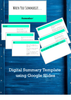 Digital Summary Template Using Google Slides