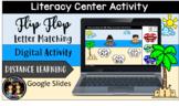 Digital Summer Flip Flops Letter Matching Literacy Center