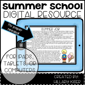 Digital Summer School Resources