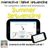 Digital Summer Sequencing for Special Ed (Interactive PDF