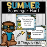 Digital Summer Themed Virtual Scavenger Hunt and Directing