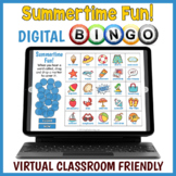 DIGITAL Summer Themed Vocabulary BINGO Game
