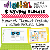 Digital Summer-themed Math Bundle: Distance Learning Activities
