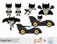 Digital Superhero Clip Art, Batman Catwoman Joker Robin, S