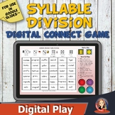 Digital Syllable Division Rules Connect Game for Distance