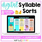Digital Syllable Sorts - Google Slides and Jamboard