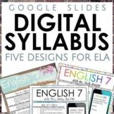 Digital Syllabus for ELA